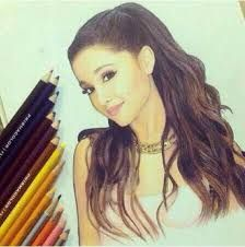 Image result for drawings of ariana grande