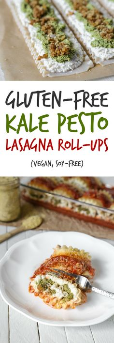 Gluten-Free Kale Pesto Lasagna Roll-Ups | Vegan, Soy-Free | The Plant Philosophy