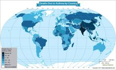 World distribution of protestant denomination world map pinterest death rate for people with asthma rising around the world gumiabroncs