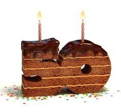 Pastel de chocolate de cumplea os rodeado de confeti con la vela encendida para un cumplea os o un a Foto de archivo