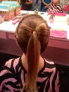 bow ponytail so cute!!!!!!