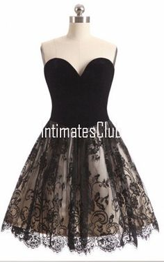 Crna Line Sweetheart Kratka Mini Tulle Čipka Backless Elegantan Koktel Homecoming Dress