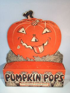 Vintage E. Rosen Company Pumpkin Pops Display, Halloween, Eyes Roll