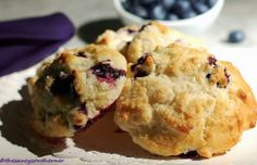 Simple Blueberry Spoon Biscuits | FaveSouthernRecipes.com