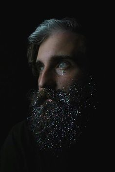 Space Galaxy Beard glitter is not for the faint of heart. - The holidays and glitter makeup are a perfect match, but it can be daunting to try out sparkles in real life. The little flecks seem to get everywhere, and if Glitter Shirt, Glitter Beards, Glitter Wine, Glitter Tattoos, Glitter Bomb, Glitter Letters, Glitter Cardstock, Glitter Dress, Glitter Gel