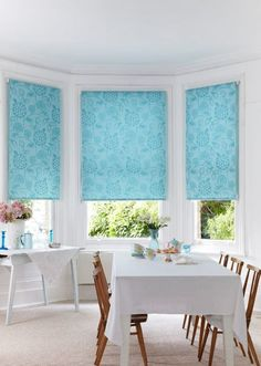 Bright coloured patterns can add a pop of colour into a plain room use them in window dressings and accessories to make sure the look is not too overpowering. Perfect for dining rooms and living rooms.