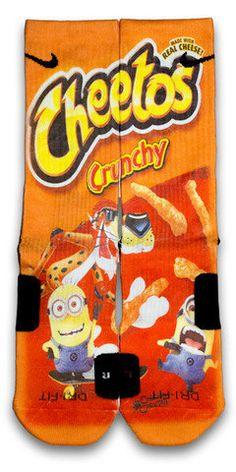 Despicable Cheetos Nike Custom Elite Socks