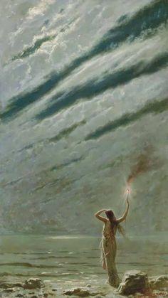 bleuroses:  Andrea Fossati (1844-1919) - The Guiding Light