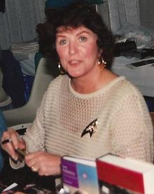 Majel Barrett-Roddenberry (February 23, 1932– December 18, 2008) was an Americ...