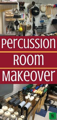 Does your band hall need a percussion room makeover? This article has pictures with great ideas of budget friendly ideas to keep percussion equipment safe. Drum Lessons, Music Lessons, Band Rooms, Choir Room, Music Classroom, Music Teachers, Classroom Setup, Classroom Design, Drum Room