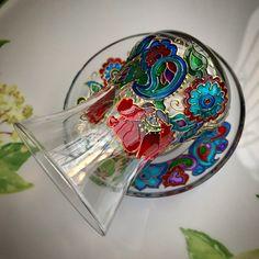 Fun of Crafts Baku Azerbaijan (@craft.az) «Poppy Dream Armudu Tea Glass Souvenir #azerigift #azerisouvenir #armudi #armudu #stekan #glass…»
