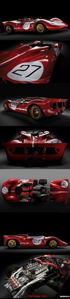 1967 Ferrari 330 P4. This car battles with Ford GT40 at Le Mans... Won from 64 to 67