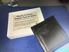 Viking Mfg. Co Presents Simplex Card to Wallet Zippered Hip Style Leather Magic Collectibles:Fantasy, Mythical & Magic:Magic:Tricks www.webrummage.com $69.99