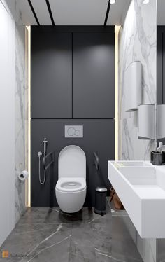 Small Downstairs Toilet, Small Toilet Room, Small Bathroom With Shower, Washroom Design, Bathroom Design Luxury, Simple Bathroom Designs, Bathroom Design Small, Small Toilet Design, Powder Room Decor