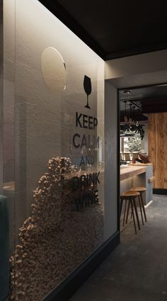 O&W bar on Behance Wine And Coffee Bar, Coffee Shop Bar, Wine Shop Interior, Bar Interior Design, Wine Bar Design, Wine Cellar Design, Wine Bar Restaurant, Restaurant Design, The Wine Shop