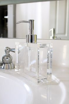 Clear soap dispenser - (if you get clear soap, and put legos or other small stuff in it, it's totally cool!)
