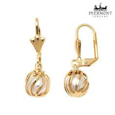 Peermont Gold-Plated Caged Drop Earrings at Savings off Retail! Cage, Fine Jewelry, Hardware, Retail, Drop Earrings, Personalized Items, Gold, Accessories, Computer Hardware