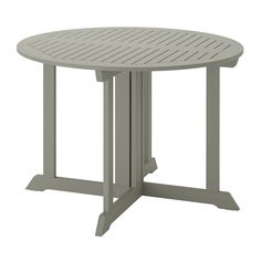 Our outdoor & patio dining furniture offers a wide selection of tables and chairs for your outdoor space. Check out our outdoor dining sets or mix & match to create your own style. Patio Ikea, Table Furniture, Outdoor Furniture, Furniture Sale, Wood Supply, Ikea Family, Grey Stain, Table Sizes, Parasol