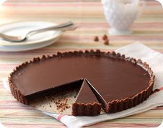 Dulce Delight: Chocolate Tart with Hazelnut crust 350F 10min then 20-25min