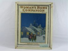 Womans Home Companion Magazine, Shabby Chic, Framed Wall Art by aFarmOfArt on Etsy https://www.etsy.com/listing/231471273/womans-home-companion-magazine-shabby