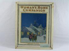Womans Home Companion Magazine, Shabby Chic, Framed Wall Art by aFarmOfArt on Etsy https://www.etsy.com/listing/231471273/womans-home-companion-magazine-shabby