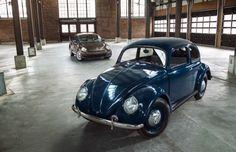 1949 Volkswagen Beetle With 2014 Volkswagen Beetle Front Three Quarter