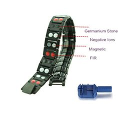 4 in 1 Far Infrared Energy Bracelet with Magnetic Stone, Germanium Stone, White Ion and FIR Stone