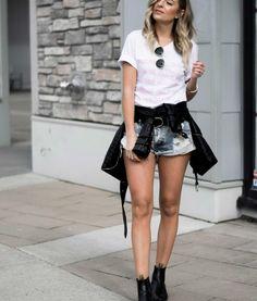 rosé all day tee Skater Skirt, Mini Skirts, Tees, Fashion, Moda, T Shirts, Fashion Styles, Skater Skirts, Mini Skirt