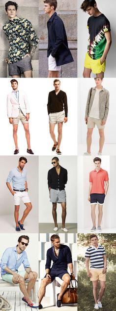 Men's Summer Daring Fashion Trends: Short Shorts Lookbook Inspiration