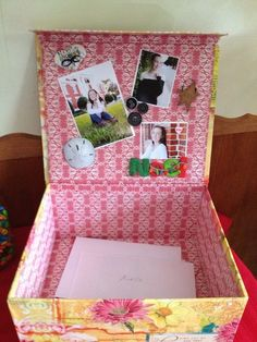 high school graduation party ideas | Box for graduation party cards