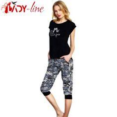 Pijamale Vienetta Secret, Bumbac 'Me & You' Lady, Capri Pants, Fashion, Moda, Capri Trousers, Fashion Styles, Fashion Illustrations