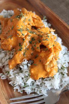 Leftover Turkey Tiki Masala with Cilantro Lime Rice