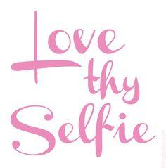 Love Thy Selfie Mirror Decal