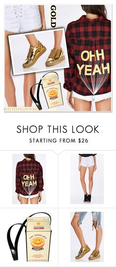 """""""Mad for Plaid"""" by paculi ❤ liked on Polyvore featuring Moschino, plaid and WardrobeStaples"""