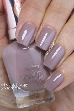 I have twelve new Sally Hansen Color Therapy polishes to show you today! The Color Therapy line has 33 new . Stylish Nails, Trendy Nails, How To Do Nails, Fun Nails, Easy Nails, Sally Hansen Color Therapy, Mauve Nails, Sally Hansen Nails, Nagellack Trends