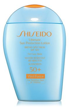 Now formulated with ingredients selected especially for those with sensitive skin and for children's delicate skin!  Shiseido's mineral-based, high-protection sunscreen not only has a low-irritant formula, but also features an exclusive WetForce technology so it becomes even more powerful when the applied area is exposed to water or perspiration for 15 minutes.