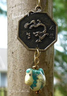 Year of the Dragon Chinese Coin Pendant by JewelryByScotti on Etsy, $20.00
