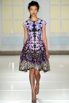 Temperley London - fabulous digital print dress that would be perfect for the races or Spring Carnival