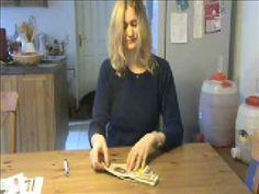handige uitleg voor de origami bloempot