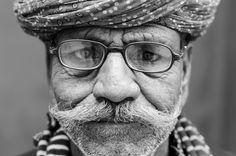 Rajasthani Man, by Biju, Amer Fort, Rajasthan, India, Nikon D7000, Nikkor 50mm f/1.8G