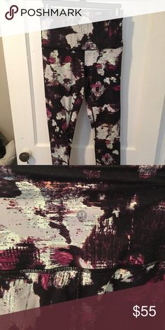 Lululemon patterned Wunder Under hi rise pants These leggings have only been worn twice and always hand washed and air-dried. They have not been hemmed and are full-length. This fabric is thick with great support and moderate compression. lululemon athletica Pants Leggings