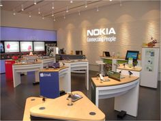 Nokia Mobile Shop in Dhaka Cell Phone Kiosk, Design Commercial, Electronics Storage, Electronic Shop, Store Layout, Phone Store, Mobile Shop, Home Gadgets, Shop Interiors
