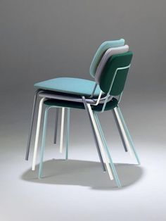Contemporary upholstered stacking chair DOLL by Emilio Nanni  Billiani