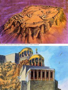 artistic reconstruction of Masada