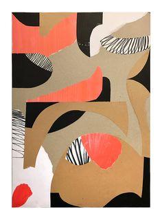 Abstract paper collage by Stefan Kroezen
