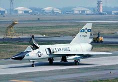 A Convair F-106A Delta Dart of the 95th FIS sits at Dover AFB.