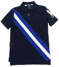 01a8ada2566e Polo Ralph Lauren Boys Big Pony Mesh Short Sleeve Rugby Shirt - S (8) -  Navy Blue