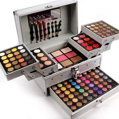 Pure Vie 132 Colors All in one Makeup Gift Set including 94 Highly Pigmented Shimmer and Matte Eyeshadow palette 12 Concealer 12 Lip Gloss 3 Face Powder 3 Blush 3 Contour Shade 5 Eyebrow powder Makeup Gift Sets, Makeup Box, Makeup Case, Makeup Tools, Party Makeup, Wedding Makeup, Makeup Geek, Makeup Artists, Makeup Brushes