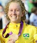 Yane Marques - Medalha de Bronze no pentatlo (Agência AFP)