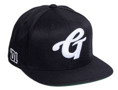 High Grade Black Snapback Cap by GRIZZLY